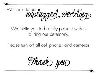 wedding hot topics unplugged ceremony