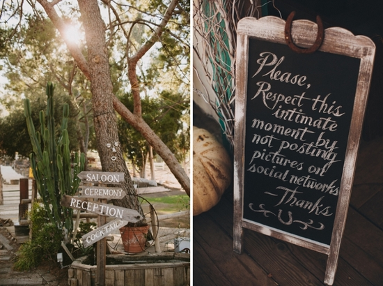 Wooden Wedding Sign For Unplugged Ceremonies