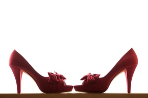 photo of Red wedding shoes
