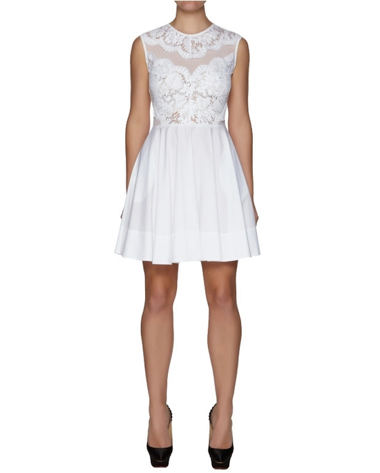 White lace LWD for the wedding reception by Lover