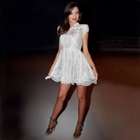 Miranda Kerr in lace LWD by Lover