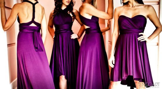 photo of Convertible, Versatile Bridesmaids' Dresses