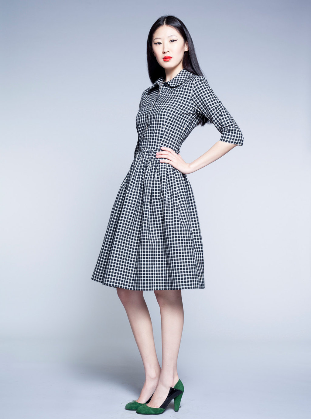 Black-and-white-checkered-bridesmaid-dress.full