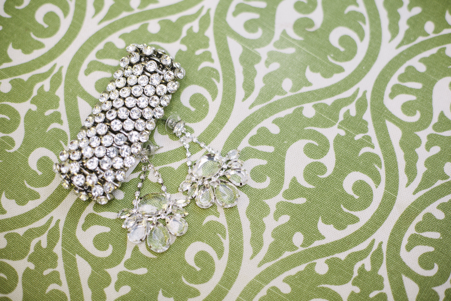 Bright summer wedding sparkly bridal jewelry