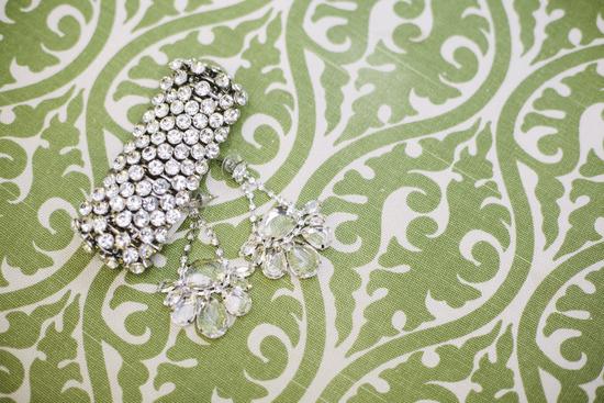 photo of Bright summer wedding sparkly bridal jewelry