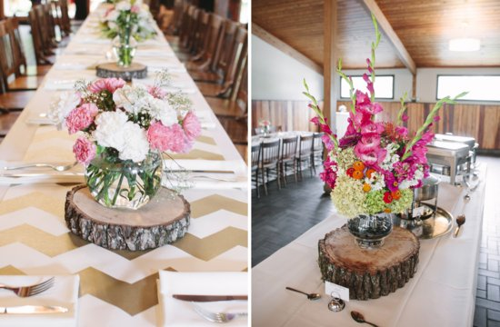 photo of Bright summer wedding down south modern rustic romantic reception