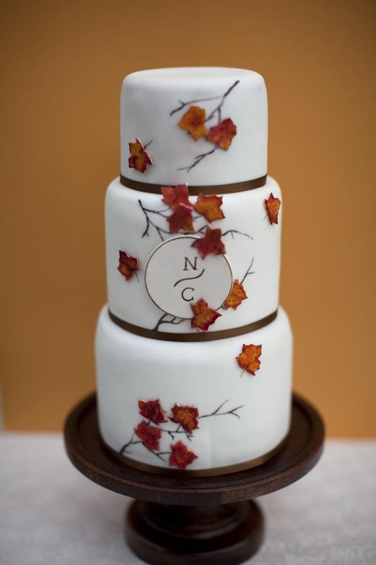photo of Fall wedding cake