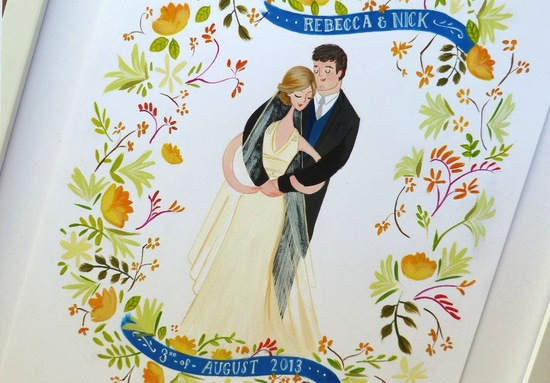 beautiful wedding illustrations and portraits 1