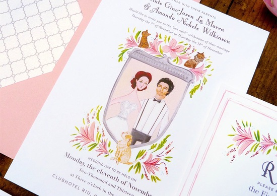 beautiful wedding illustrations and portraits3