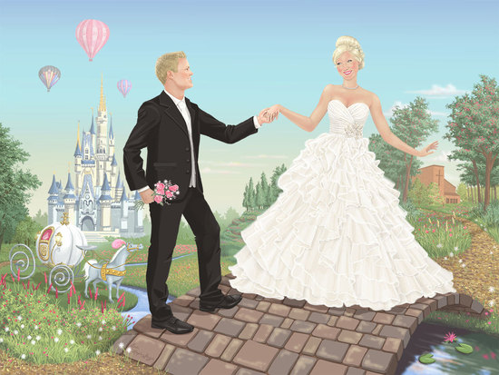 Fairytale inspired wedding portrait