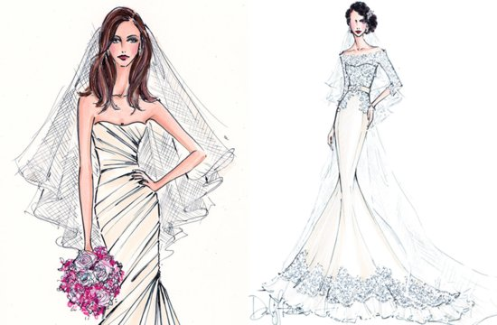 photo of wedding gown illustrations to treasure forever