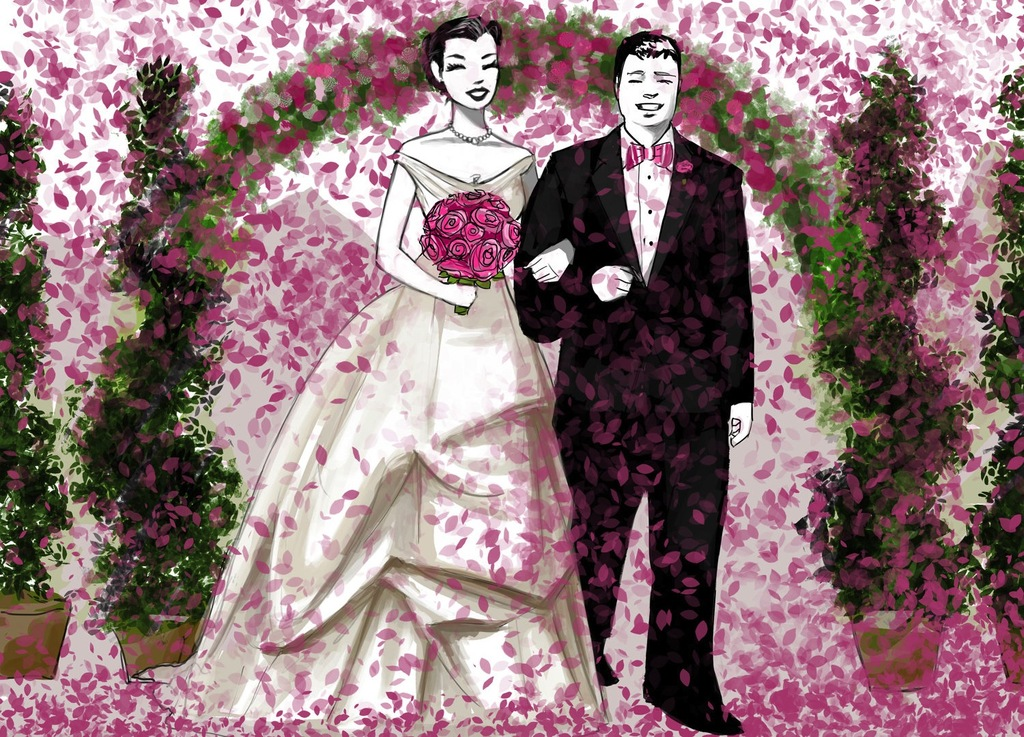 Custom-bride-and-groom-illustration-from-the-wedding-ceremony.full