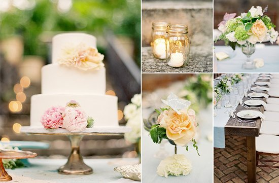 Romantic pastel wedding colors