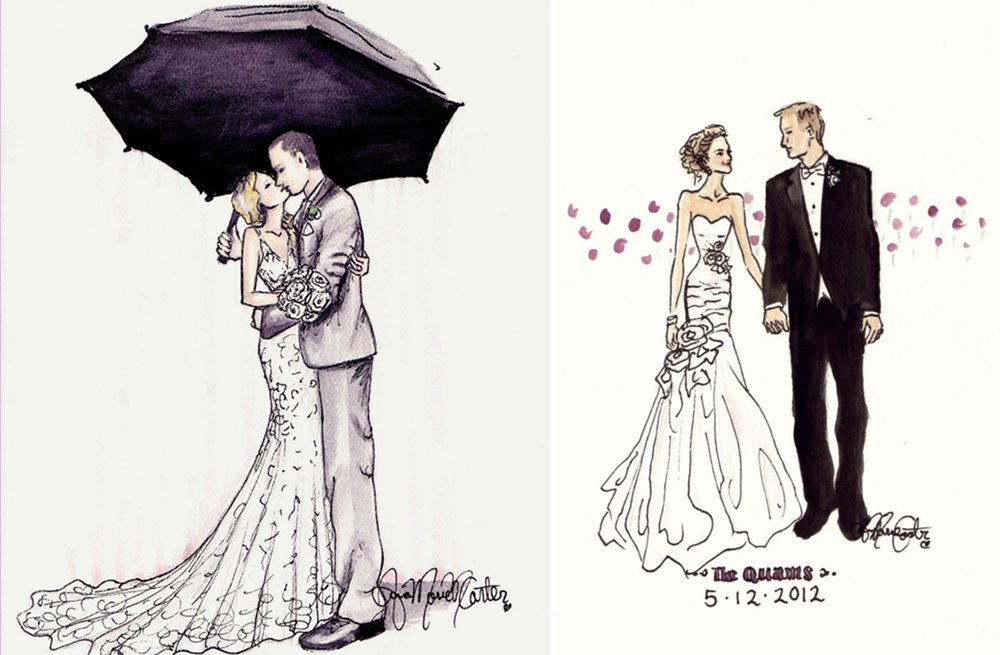 Custom-wedding-sketches-of-the-bride-and-groom.full
