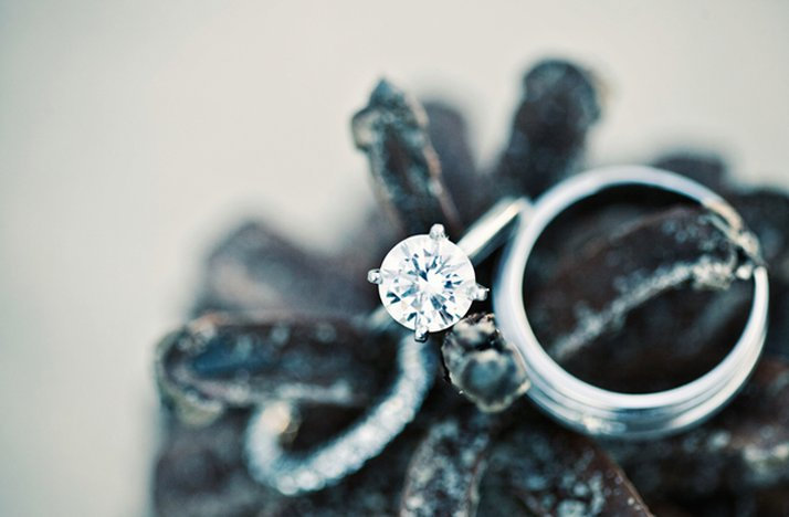 Engagement ring, fall wedding