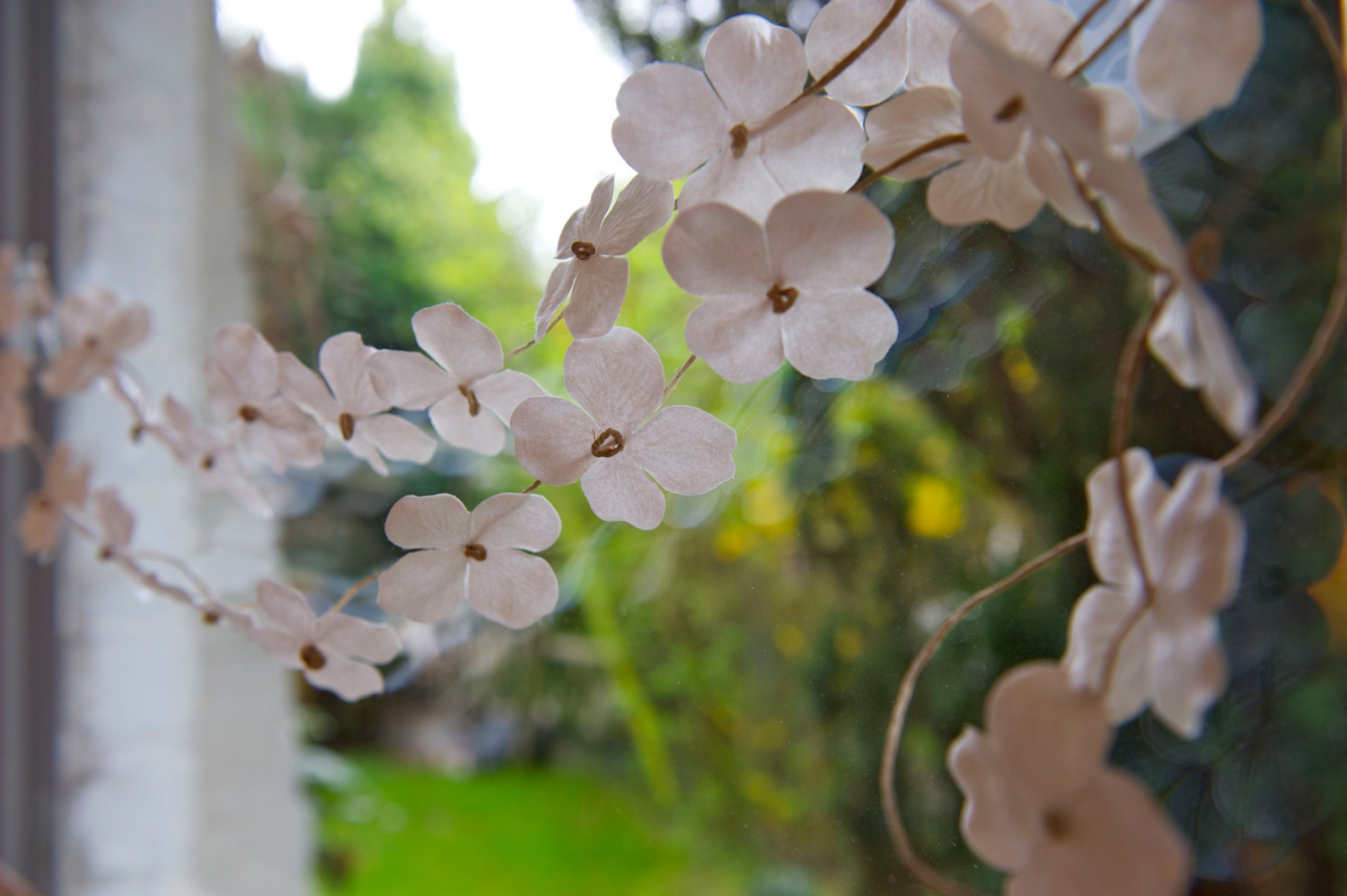 paper flower wedding garland for eco I Dos