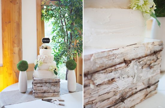 eco wood wedding cake stand