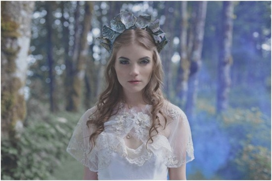 whimsical eco abalone shell wedding headpiece