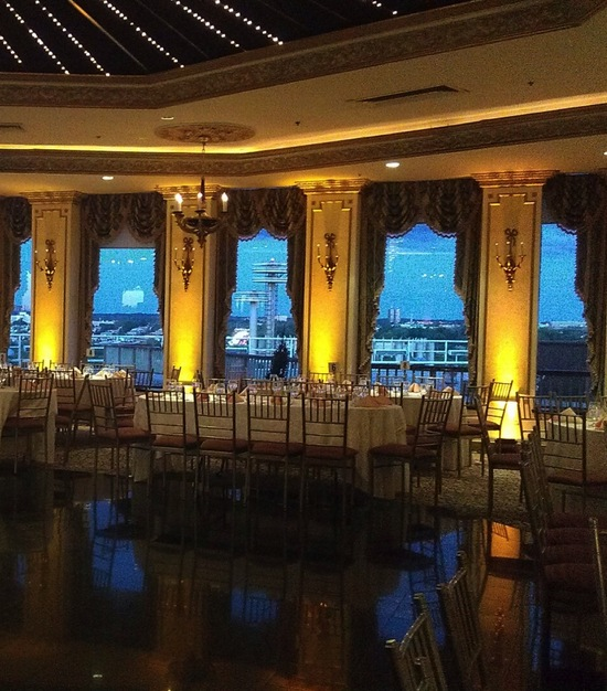 Intimate Gold Wedding Reception