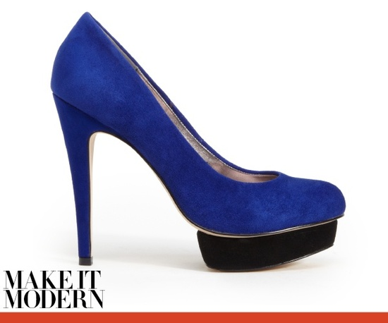 Blue platform wedding shoes