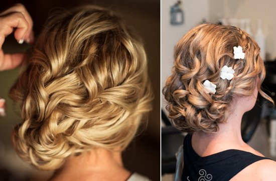 Unique wedding Updos