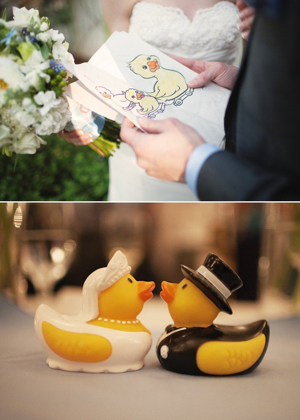 Real-wedding-rubber-duckie-themed-decor-romantic-bridal-bouquet.full