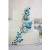 White-wedding-cake-blue-wedding-flowers-elegant-outdoor-wedding.square