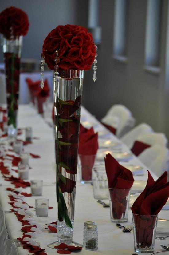 Beautiful Roses Centerpieces