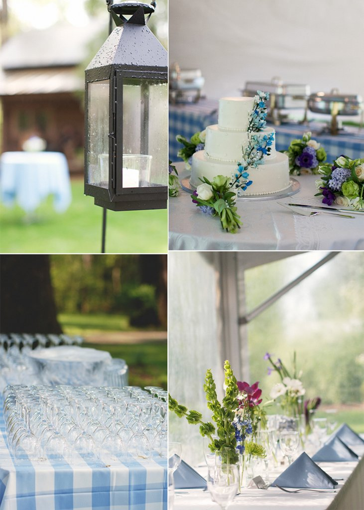 photo of Outdoor Spring Wedding with Country Chic Charm