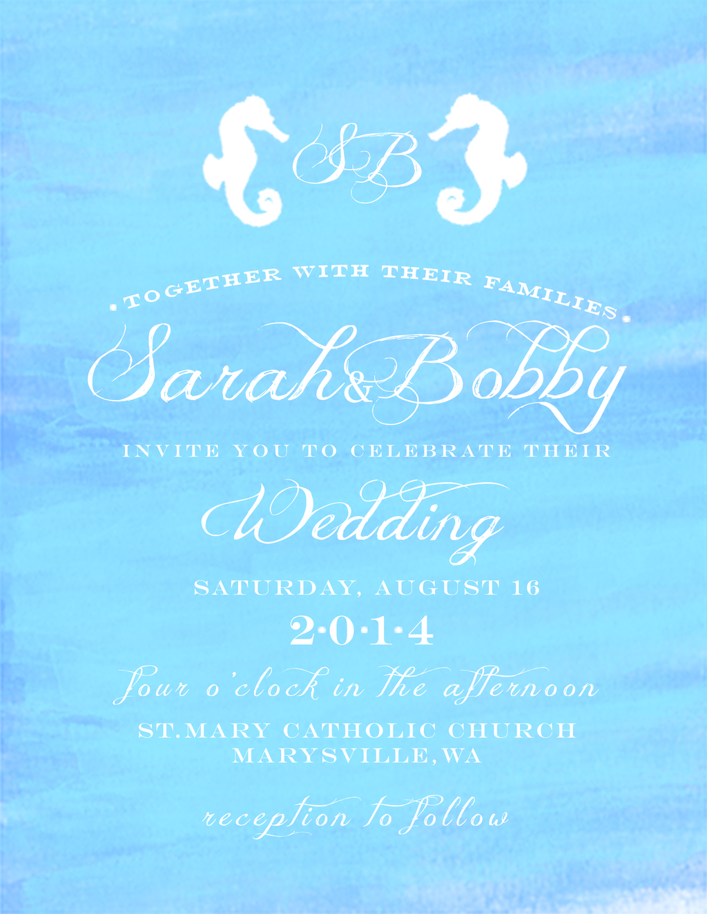 Nautical Wedding Invitation