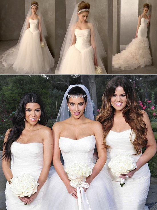 Vera Wang knocks off her own dresses, get Kim Kardashian's bridal style at David's Bridal