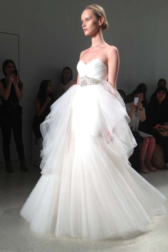 Kenneth Pool 2014 wedding dress tulle ballgown