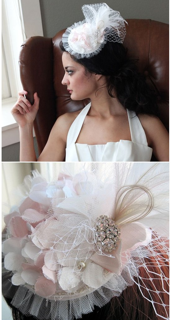 Mini bridal hat inspired by the royal wedding