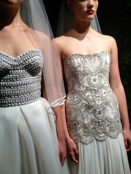 Naeem Khan bridal beautiful beading