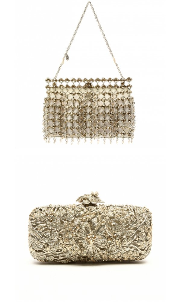 Sparkly wedding purse and clutch