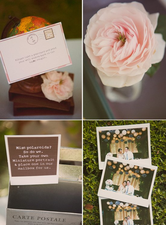Vintage inspired California wedding reception decor