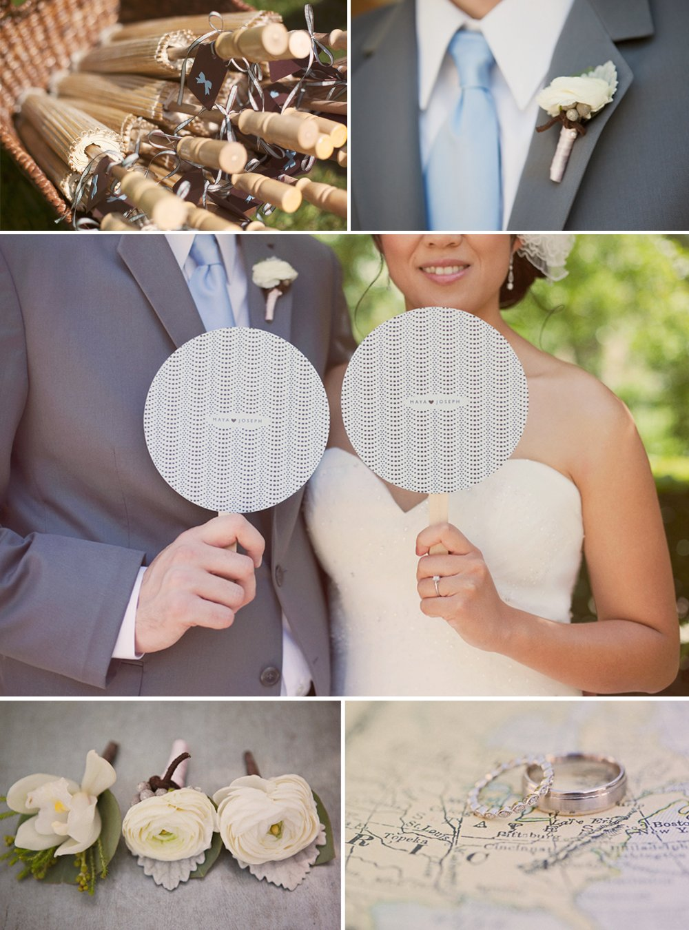 Outdoor California wedding with personalized vintage details