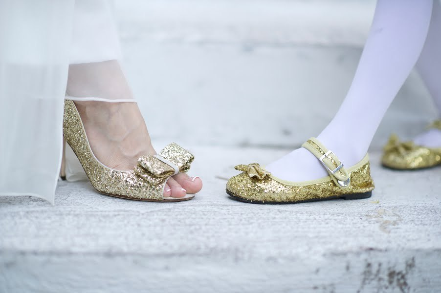 ee2c5d4355e Sparkly gold wedding shoes
