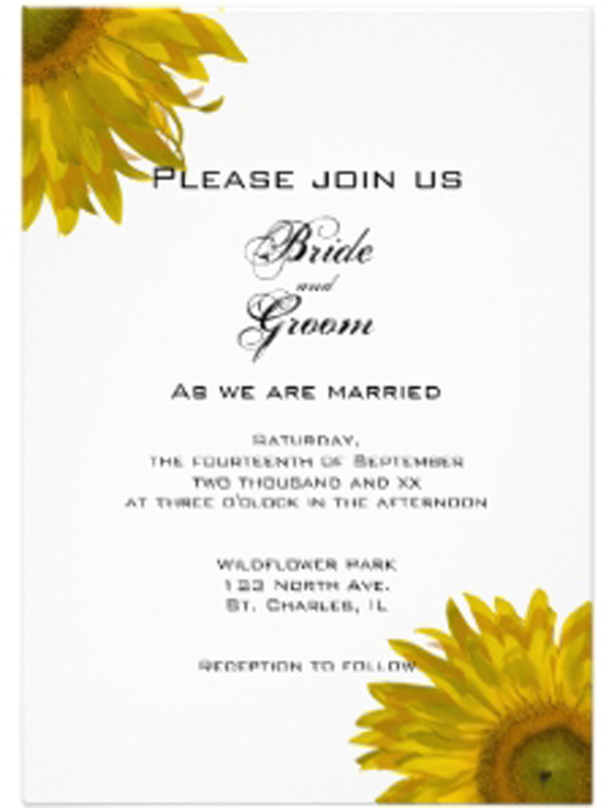 one wed sunflower wedding