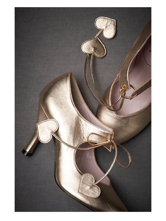 metallic wedding shoes from bhldn