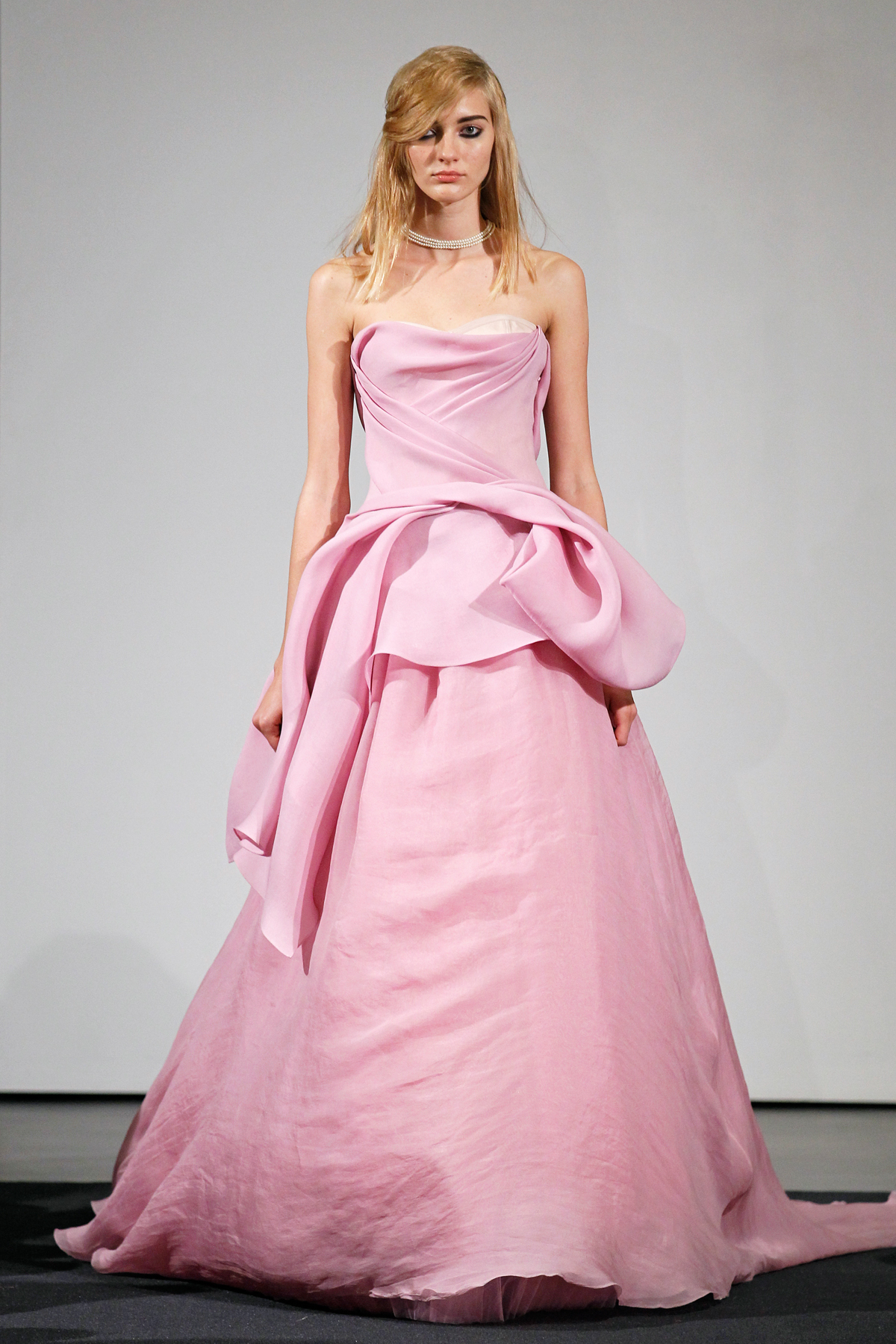 Vera Wang Pink Wedding Dress