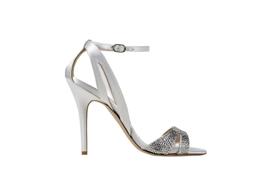 Monique Lhuillier wedding shoes Avril ivory satin sandal