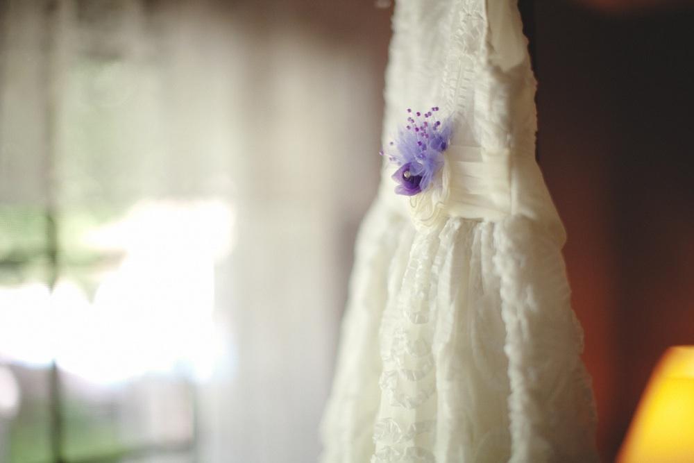 Ivory-wedding-dress-romantic-lace-purple-wedding-flowers.full