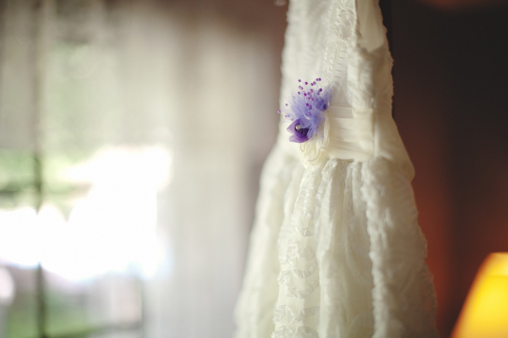 Bridesmaid Dress 2017 Elegant Flower U Neck Long Purple Dresses Floor Length Chiffon Wedding