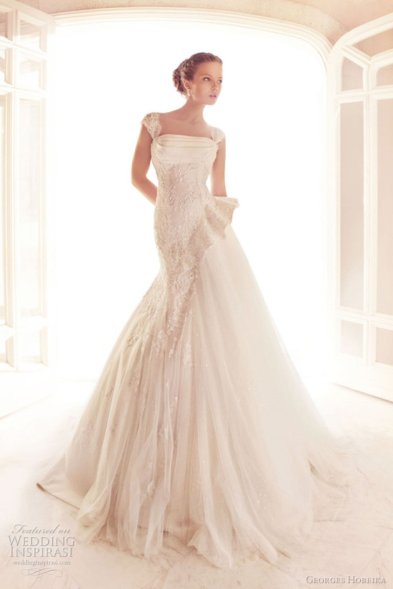 photo of Elegant Wedding Dresses with Couture Details by Georges Hobeika