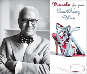 photo of Something Blue bridal shoes by Manolo Blahnik- First Look!