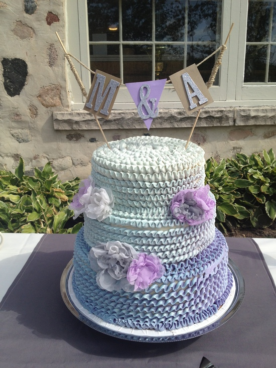Simple Purple wedding Cake