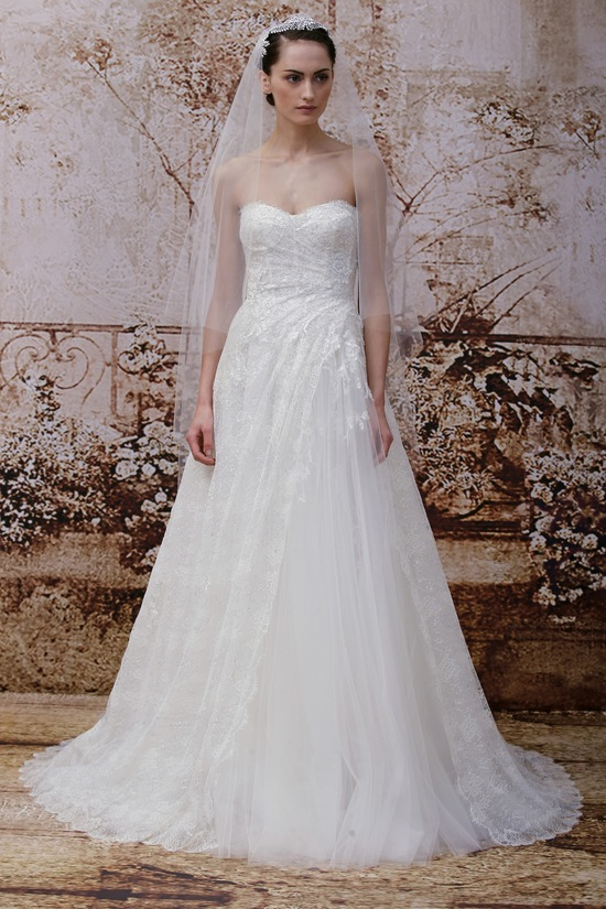 A Line Tulle Wedding Dress