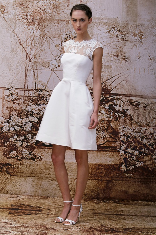 Wedding dress by Monique Lhuillier Fall 2014 bridal Look 4