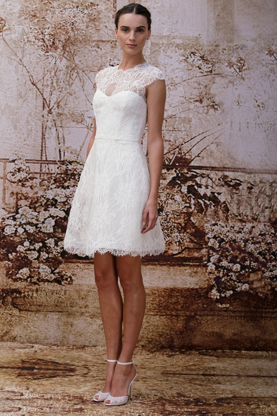 Cap Sleeves Lace Wedding Dress